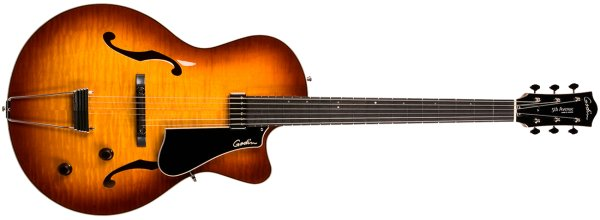 Фото Godin 5th Avenue Jazz Sunburst HG с кейсом