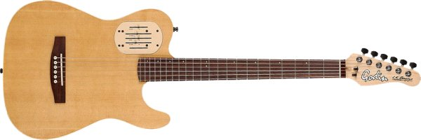 Фото Godin Acousticaster 6 Deluxe Natural RN