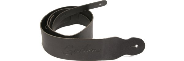 Фото Godin Classic Black Leather Strap W/Embossed Logo